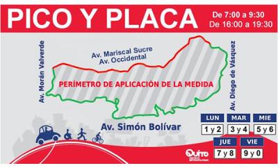 Horario del Pico y Placa en Quito