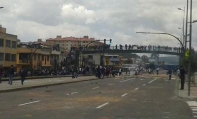 Huelga en la avenida Napo