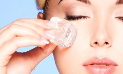 Eliminar las arrugas con hielo