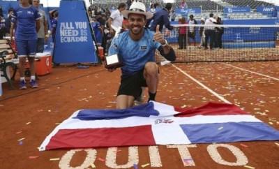 Victor Estrella, ganador del torneo de Tenis Ecuador Open Quito
