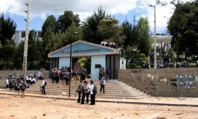 Huelga en Colegio Montufar