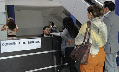 Puntos de recaudación de multas de tránsito Ecuador