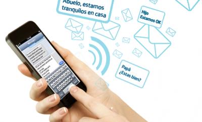 Mensajes sms gratuitos por terremoto en Ecuador