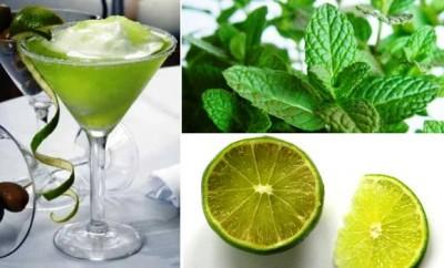 Receta de Coctel de limón y menta