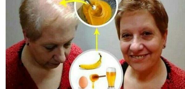 La máscara para los cabellos con los aceites poner a los cabellos secos o húmedos