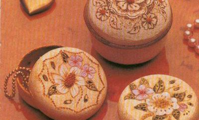 Joyeros hechos con cáscara de naranjas