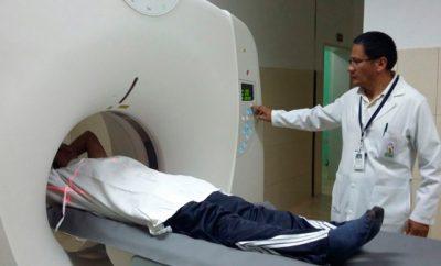 Tomógrafo en el hospital del IESS en Ibarra