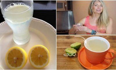 Agua de limón para adelgazar