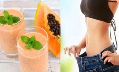 Batido de avena y papaya para bajar de peso