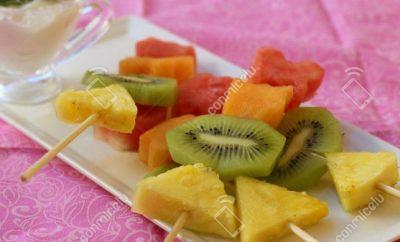 Receta Pincho de frutas