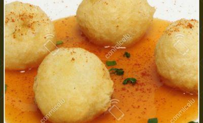Receta Sopa de bolas de quinoa y maíz