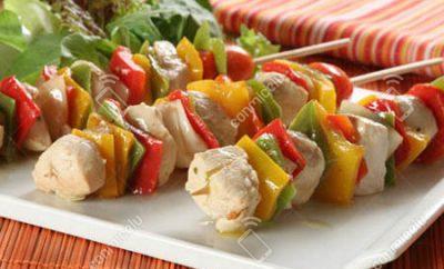 Receta Pincho de pollo con verduras