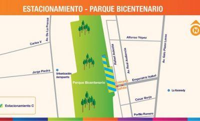 Red de parqueaderos públicos en Quito