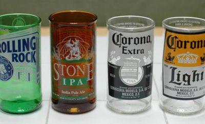 Cómo hacer vasos de botellas de vidrio
