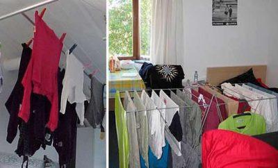 Secar la ropa dentro de casa es malo
