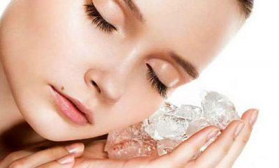 Beneficios del masaje con hielo en el rostro