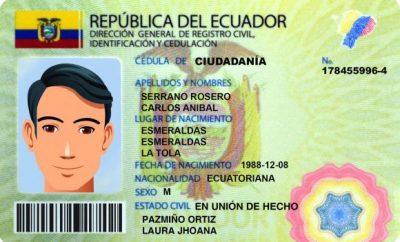 Cédula Registro Civil