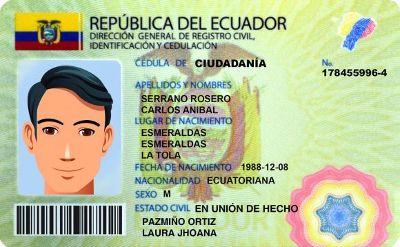 Cédula Registro Civil