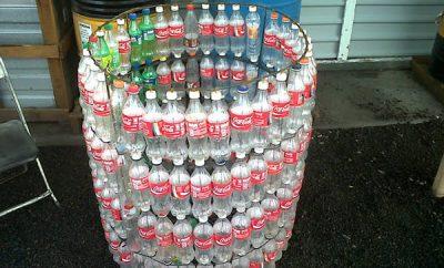 Cómo hacer un basurero con botellas plásticas