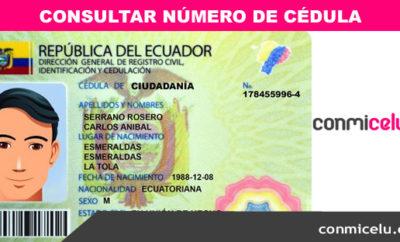 Consulta número de cédula identidad Ecuador, cédula ecuador