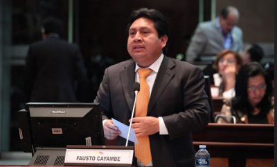 Fausto Cayambe asambleista