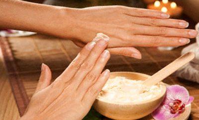 Mascarilla para las manos maltratadas