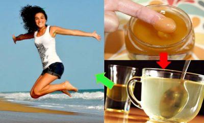 Miel y agua tibia para adelgazar