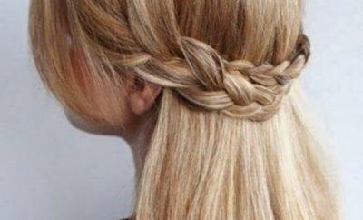 Peinado corona de trenzas