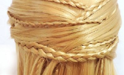Peinado semirecogido cruzado