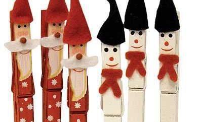 Adornos navideños con pinzas de madera