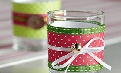 como-decorar-vasos-en-navidad