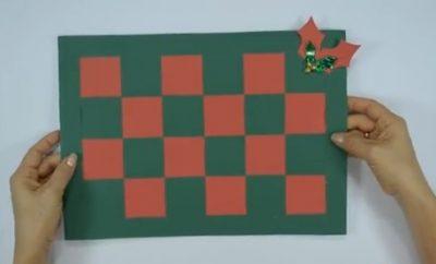Cómo hacer individuales navideños con papel