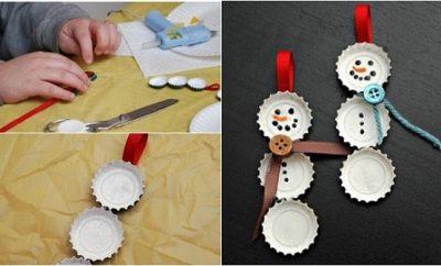 Muñecos de nieve con tapas