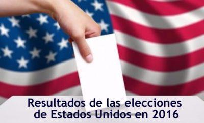 Resultados de las elecciones de Estados Unidos 2016