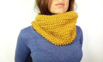 como tejer un cuello bufanda