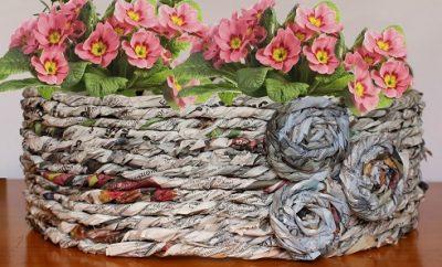 cubremacetas de papel