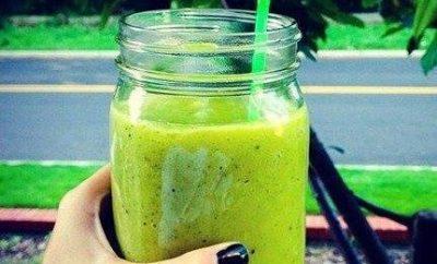 jugo verde de las famosas