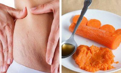 mascarilla de zanahoria para las estrias