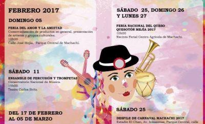 Programa Carnaval de Machachi 2017