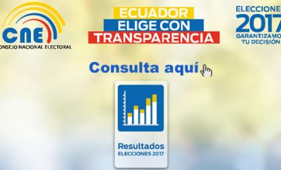 Resultados por provincia CNE Elecciones Ecuador