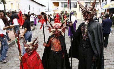 Procesión de los Diablos en la Merced, Semana Santa Quito 2017
