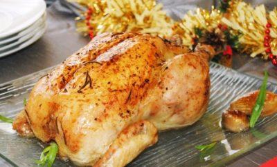 pollo relleno con higos y mazapan
