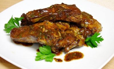 costillas al whisky
