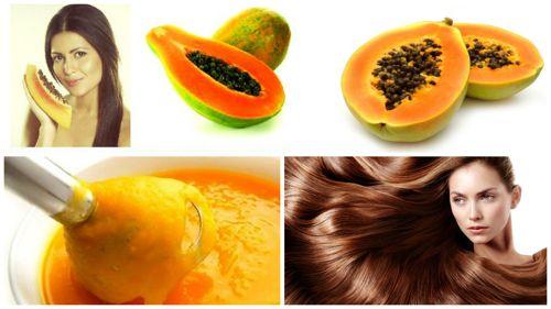 mascarilla de papaya para el cabello