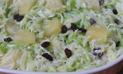 ensalada de col y pina