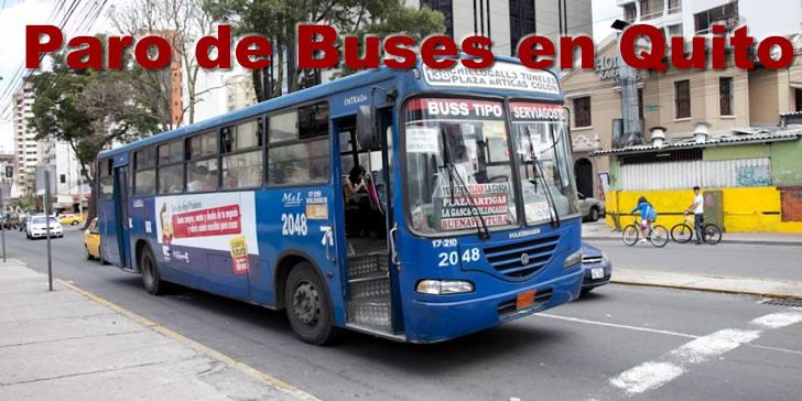 Paro de buses en Quito 25 agosto 2017