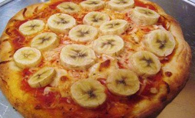 pizza de platano