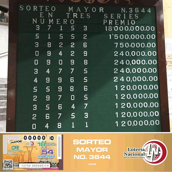 Sorteo mayor 3644