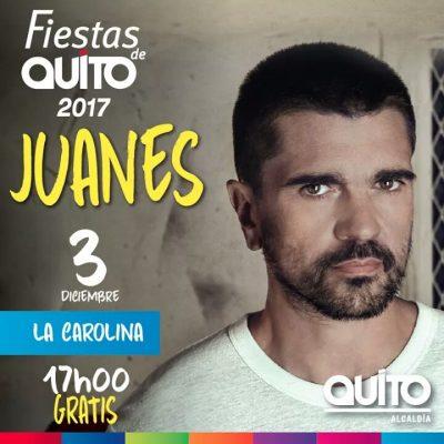 Concierto Juanes fiestas de Quito, Juanes en Quito