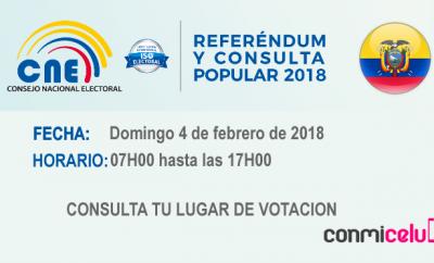 Consulta Popular 2018 Ecuador, Elecciones Ecuador 2018
